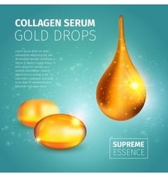 Collagen Serum Poster vector image