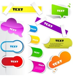 Colorful paper bookmarks set vector