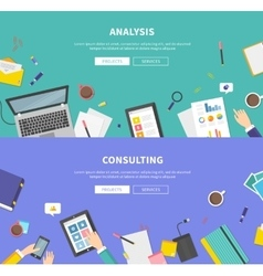 Concept consulting service analysis vector