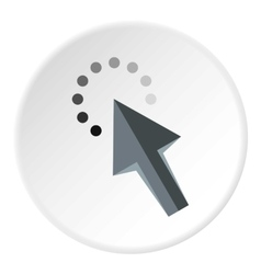 Cursor arrow waiting icon flat style vector