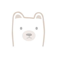 cute bear head in scandinavian cartoon style kids vector image