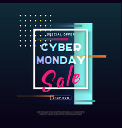 cyber monday media concept banner in modern style vector image