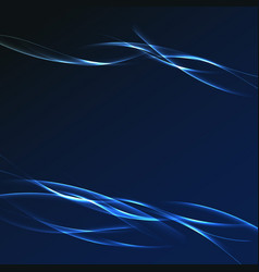 Dark blue futuristic streak wave layout vector