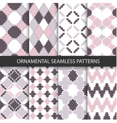 Delicate ornamental patterns - seamless vector