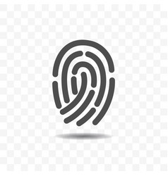 finger print icon design concept vector image