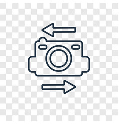 Flip camera concept linear icon isolated on vector