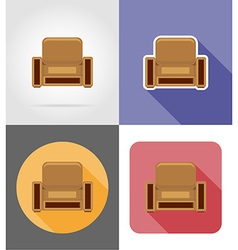 furniture flat icons 24 vector image