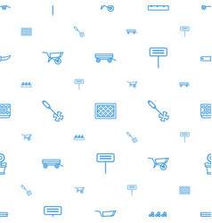 Gardening icons pattern seamless white background vector