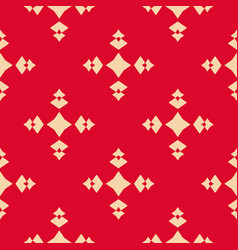 Geometric seamless pattern with diamond shapes vector