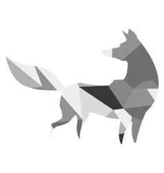 geometric texture fox icon vector image