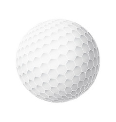 golfball realistic image of single golf vector image