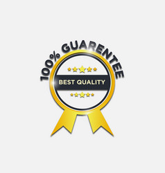 guaranteed gold label and badges vector image
