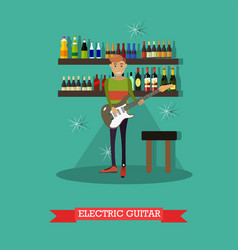 guitarist playing electric vector image