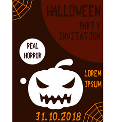 Halloween vertical background flyer or invitation vector