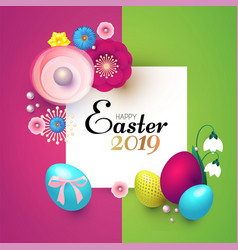 happy easter design template with realistic vector image