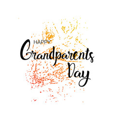 Happy grandparents day greeting card banner text vector