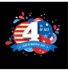 Happy independence day of America 4 th July vector image