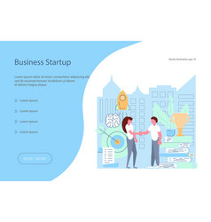 investment start-up concept vector image