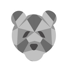 isolated low poly bear icon vector image