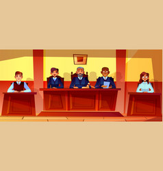 judges at court hearing vector image