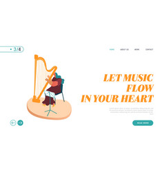 landing page symphony orchestra playing vector image