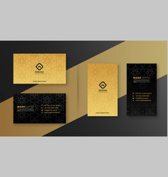 Luxury royal black and gold business card design vector