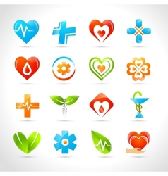Medical logo icons vector
