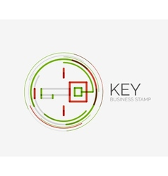 Minimal line design shopping stamps key vector image