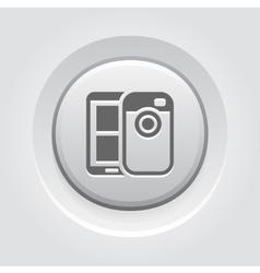 Mobile photo blogging icon vector