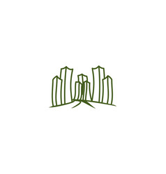 mono line city town logo inspiration isolated on vector image