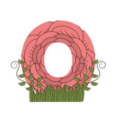o font letter vector image
