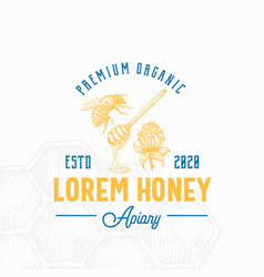 premium local honey sign symbol or logo template vector image