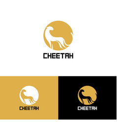 printstylized cheetah logo cheetah vector image