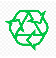 recycle triangle arrow outline icon eco waste vector image