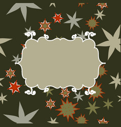 Scrapbooking template in gray with place for text vector