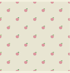Seamless pattern with cartoon apples vector