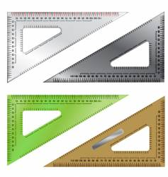 Set drafting triangles vector