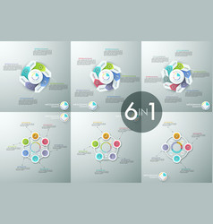 set of infographic design layouts circular vector image vector image