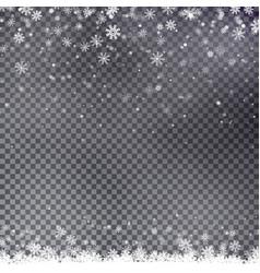 snowflake border christmas falling snow vector image