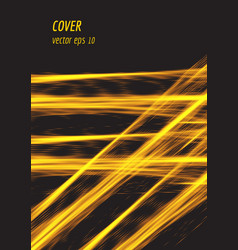 speed glowing line cover design with particles vector image