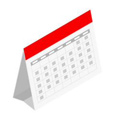 Standing month lined spring desk calendar vector
