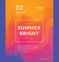 summer poster event template vector image
