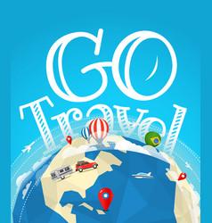 Summer travel go travel concept vector