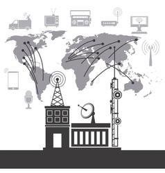 Telecomunication system service international vector
