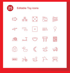 toy icons vector image