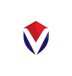 V shield logo vector