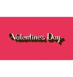 Valentines Day lettering emblem vector image