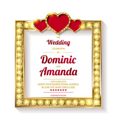 wedding invitation thank you card vector image