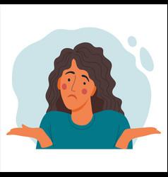 Women emotional portrait hand drawn flat design vector