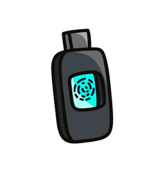Work usb flash drive with modern fingerprint vector